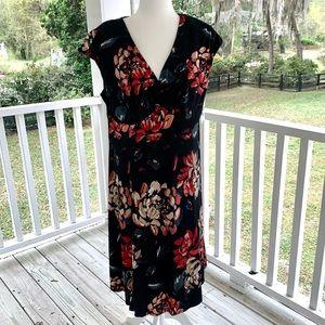 GLAMOUR Black Floral Dress.